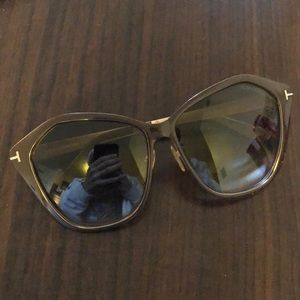 Tom Ford Lena Brown/Gold Sunglasses